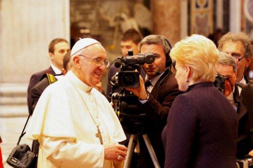 Popiežius Pranciškus parašė laišką prezidentei