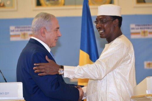 Izraelis ir Čadas atnaujino prieš kelis dešimtmečius nutrauktus diplomatinius santykius