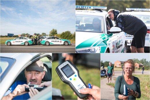 Baisūs skaičiai: per pusdienį prie Klaipėdos sustabdyti 29 neblaivūs vairuotojai vienas bandė pabėgti į mišką
