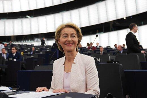 Kandidatė į EK vadovus von der Leyen išdėstė savo viziją Europos Parlamentui