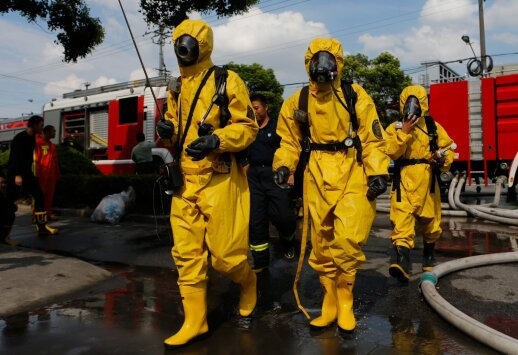 Kinijoje per sprogimą dujų fabrike žuvo mažiausiai 10 žmonių
