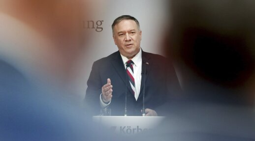 Pompeo grasina ryžtingu atsaku Iranui, jei šis kenks JAV interesams Irake
