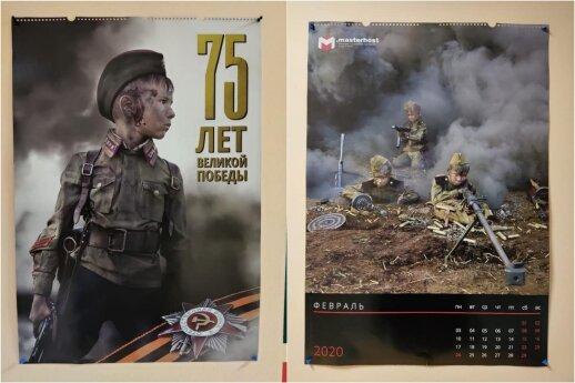 Pamišimas dėl Pergalės dienos: Rusijos darželyje – plakatai su kruvinais vaikais