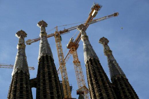 Šventosios Šeimos katedros statyba Barselonoje šįmet jau nebus atnaujinta