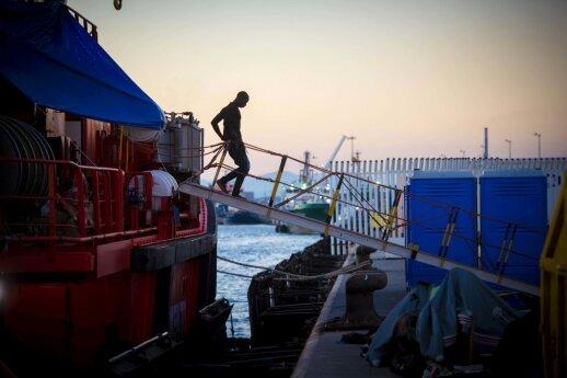 TMO: prie Libijos krantų galėjo dingti per 100 migrantų