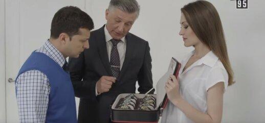 Nepraėjus nė parai Rusijos TV stabdo Zelenskį išgarsinusio serialo transliaciją praslydo Putinui nemalonus epizodas