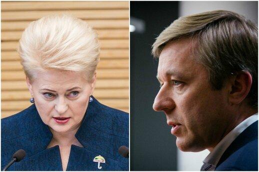 Karbauskis nusprendė apskųsti Grybauskaitę