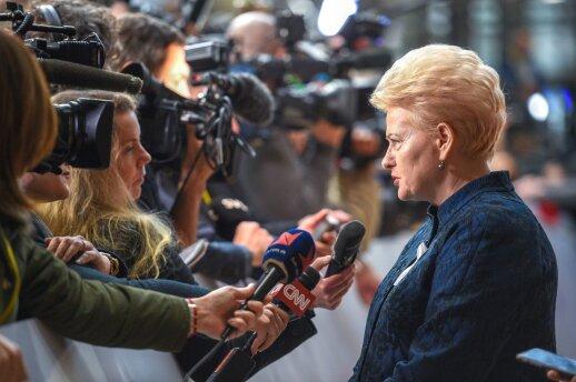 Prieš diskusiją dėl aukščiausių ES postų – Grybauskaitės įspėjimas